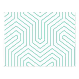 Blue labyrinth postcard