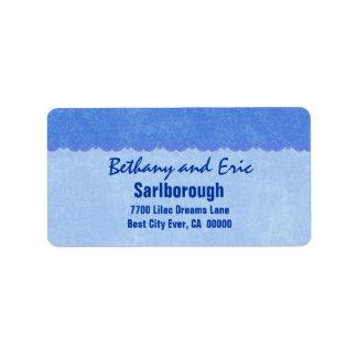 Blue Lace  A301 Address Label