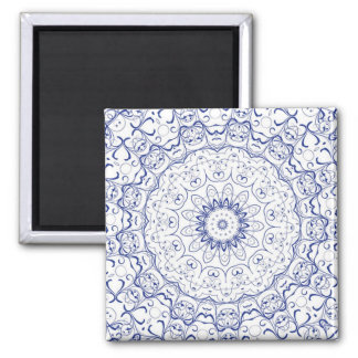 Blue Lace Abstract Magnet