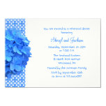 Blue Lace and Hydrangeas Rehearsal Dinner 4.5x6.25 Paper Invitation Card
