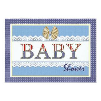 blue lace baby shower registry card