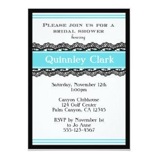 """Blue Lace Bridal Shower Invitation 5"""" X 7"""" Invitation Card"""