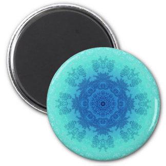 Blue Lace Brocade Fridge Magnet