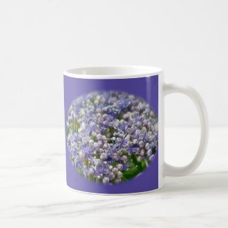 Blue Lace Cap Hydrangea Flowers Coffee Mug
