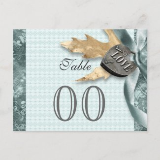 Blue lace country locket wedding postcards