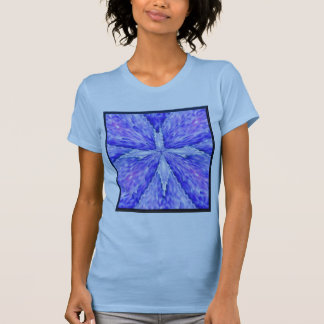 Blue Lace Cross with Hearts of Light T-shirt