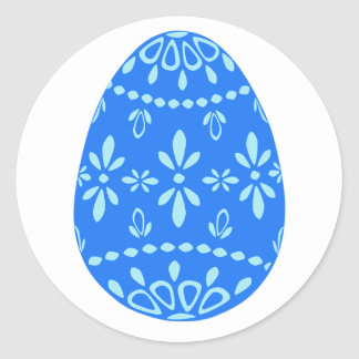 Blue Lace Easter Egg Stickers