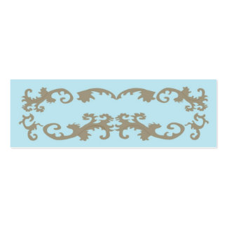 Blue Lace Elegant Double-Sided Mini Business Cards (Pack Of 20)