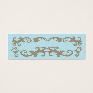 Blue Lace Elegant Mini Business Card