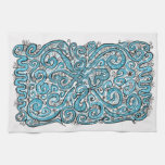 blue lace hand towel