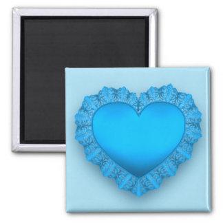 Blue Lace Heart Magnet