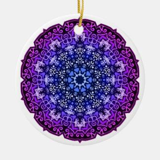 Blue Lace Medallion Ornament