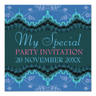 Blue Lace My Special Birthday Bridal Invitations