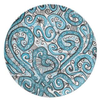 blue lace plates