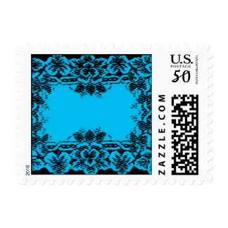 Blue Lace Postage Stamps