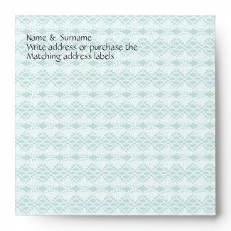 Blue lace romantic country wedding envelopes