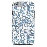 Blue Lace Scroll Work iPhone 6 Case
