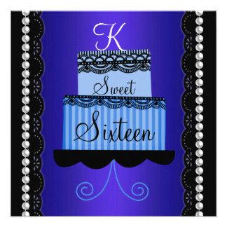 Blue Lace Sweet Sixteen Invitation