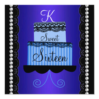 Blue Lace Sweet Sixteen Invitation