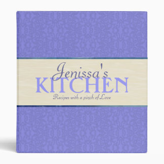 Blue Lace with Ribbon Recipe Binder