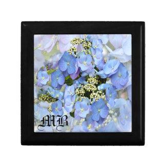 Blue Lacecap Hydrangeas Keepsake Box