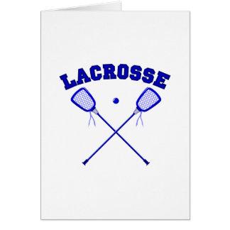 Blue Lacross Logo Card