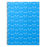 Blue Lacrosse Sticks Notebook