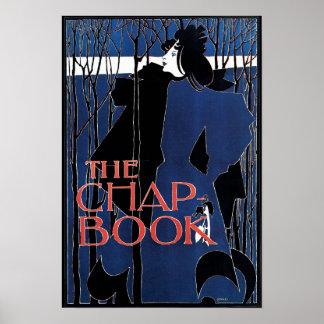 Blue Lady Art Nouveau Advertisement Posters