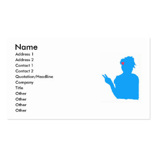 Blue Lady Business Card