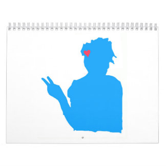 Blue Lady Calendar