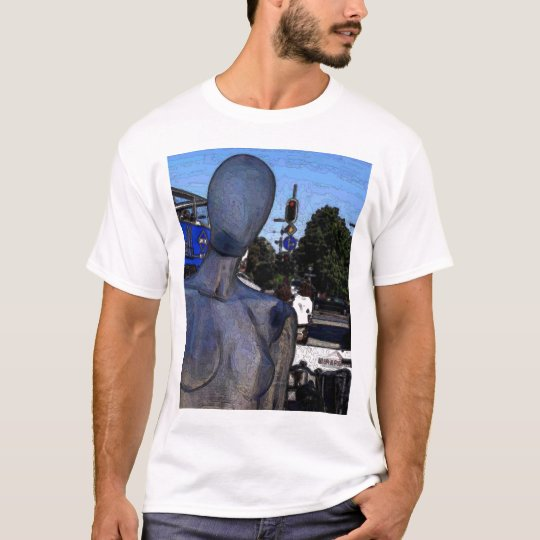 Blue Lady In Munich T-Shirt