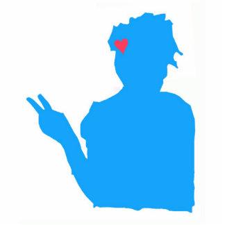 Blue Lady Photo Sculpture