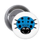 Blue Ladybug Button