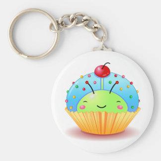 Blue Ladybug Cupcake Keychain