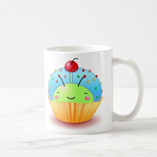 Blue Ladybug Cupcake Mug