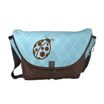 Blue Ladybug Messenger Diaper Bag Purse Gift