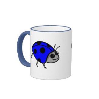 Blue Ladybug Mug - Proud To Be Different! mug