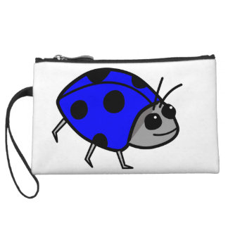 Blue Ladybug Proud To Be Different Wristlet