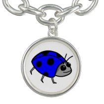 Blue Ladybug Proud To Be Different Bracelet