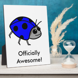 Blue Ladybug Proud To Be Different Plaque