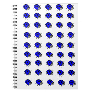 Blue Ladybug Proud To Be Different Spiral Notebook