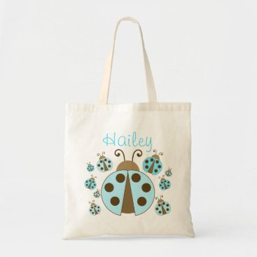 Toddler & Baby themed Blue Ladybug Tote Bag