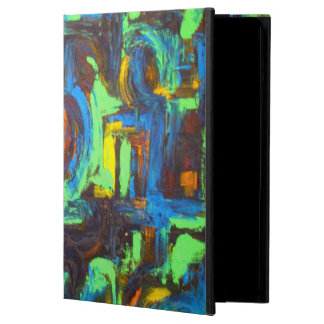 Blue Lagoon-Abstract Art Hand Painted Brushstrokes Cover For iPad Air