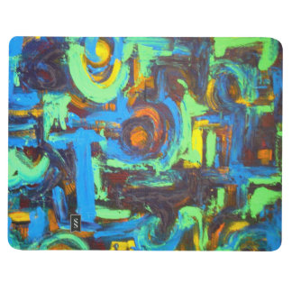 Blue Lagoon-Abstract Art Hand Painted Brushstrokes Journal