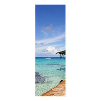 Blue Lagoon at the Tuamotus French Polynesia Business Card Template