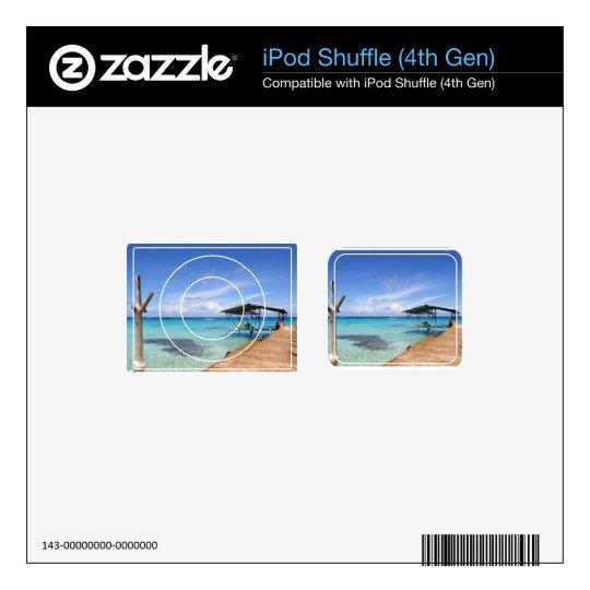 Blue Lagoon at the Tuamotus, French Polynesia iPod Shuffle 4G Skin