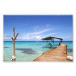 Blue Lagoon at the Tuamotus, French Polynesia Photo Print