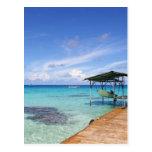 Blue Lagoon at the Tuamotus, French Polynesia Post Card
