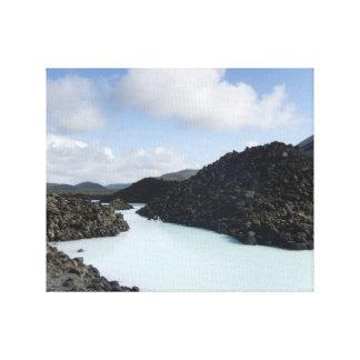 Blue Lagoon Entry - Iceland Canvas Print