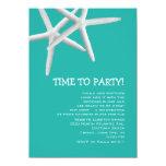 """Blue Lagoon Fun Rehearsal Dinner Invite 4.5"""" X 6.25"""" Invitation Card"""